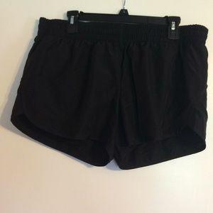 Black running shorts